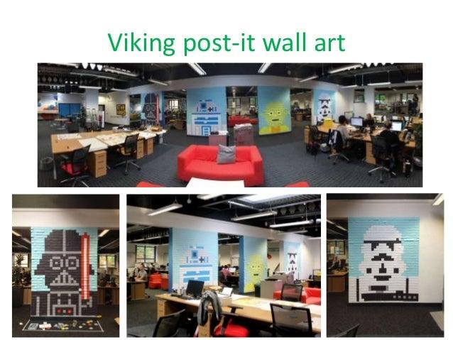 Viking post-it wall art