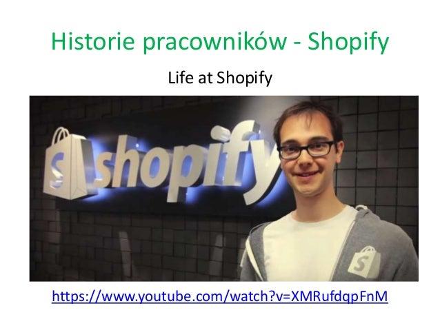Historie pracowników - Shopify Life at Shopify https://www.youtube.com/watch?v=XMRufdqpFnM