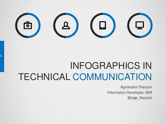 INFOGRAPHICS IN TECHNICAL COMMUNICATION Agnieszka Tkaczyk Information Developer, IBM @aga_tkaczyk