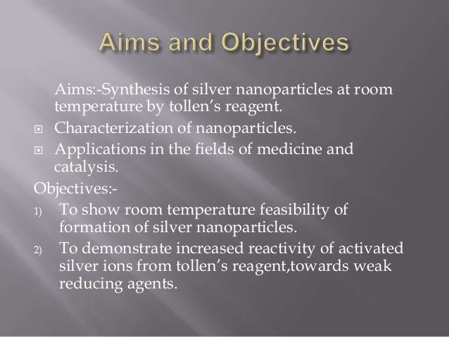 synthesis of silver nanoparticles pdf