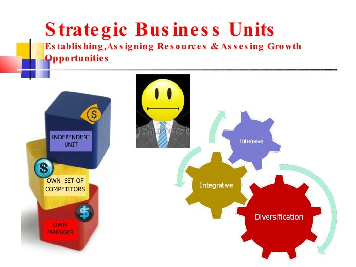 Strategic Business Units  Establishing,Assigning Resources & Assesing Growth Opportunities INDEPENDENT UNIT OWN   SET OF C...