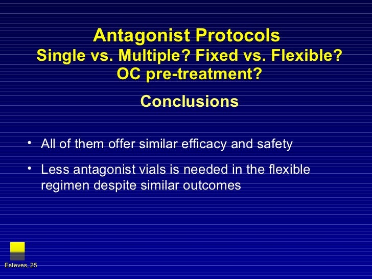 Antagonist Protocols  Single vs. Multiple? Fixed vs. Flexible? OC pre-treatment? Conclusions <ul><li>All of them offer sim...