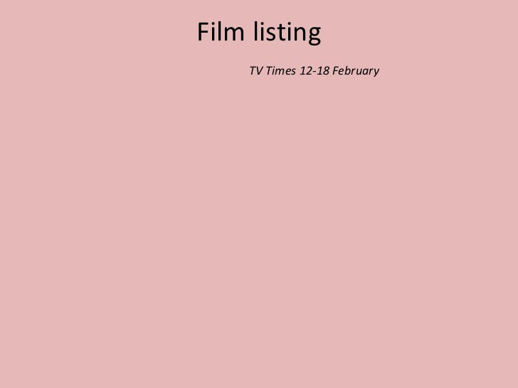 Film listing TV Times 12-18 February<br />
