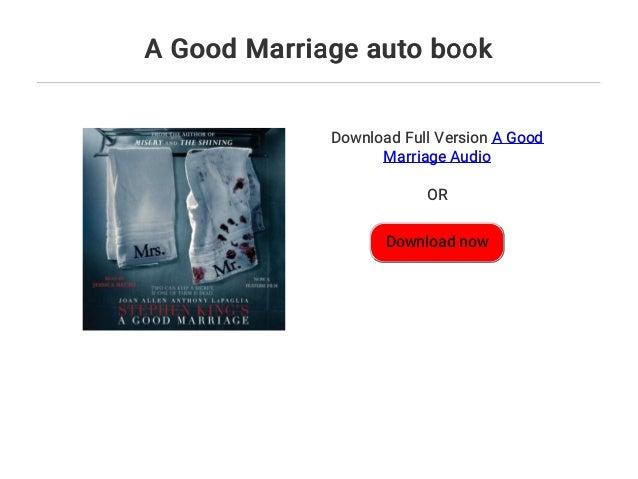 A Good Marriage Book