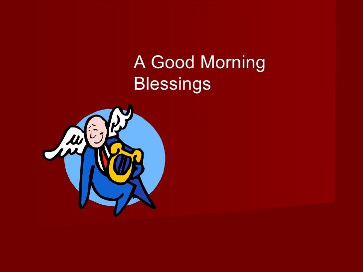 A Good Morning Blessings