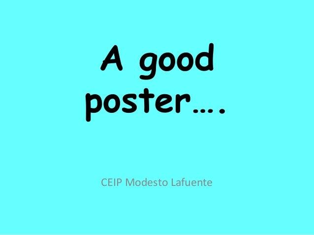 A good poster