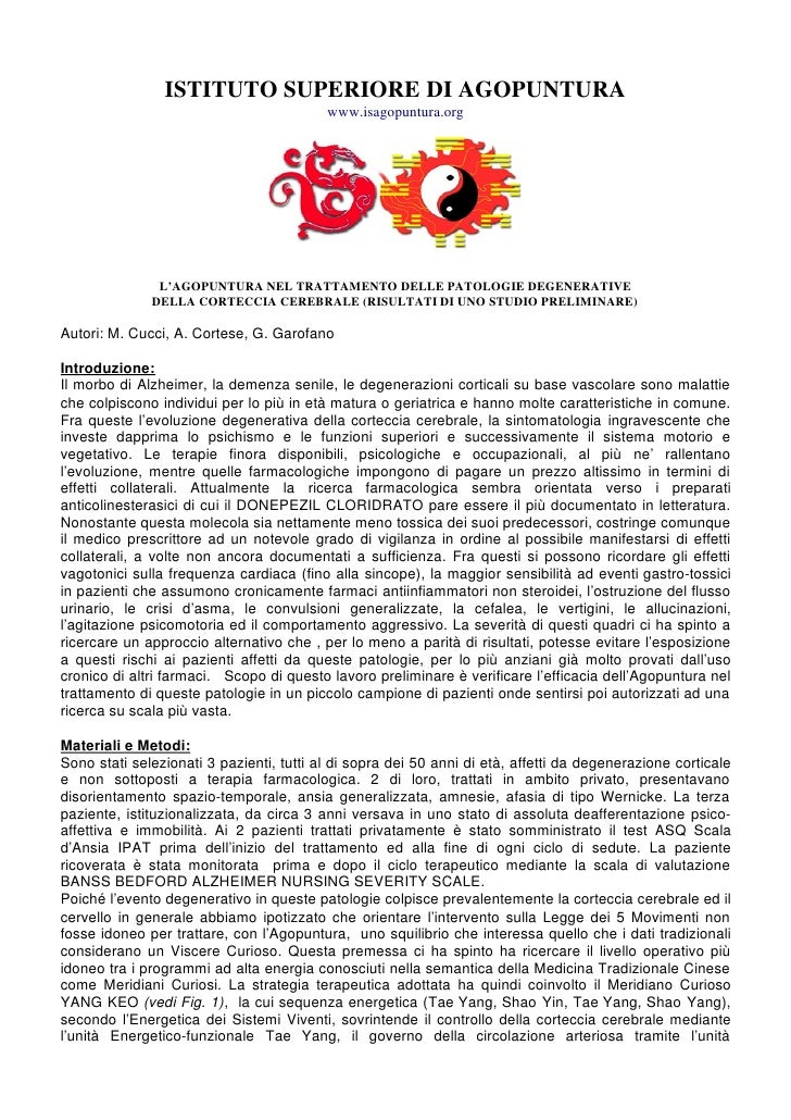 ISTITUTO SUPERIORE DI AGOPUNTURA                                          www.isagopuntura.org               L'AGOPUNTURA ...