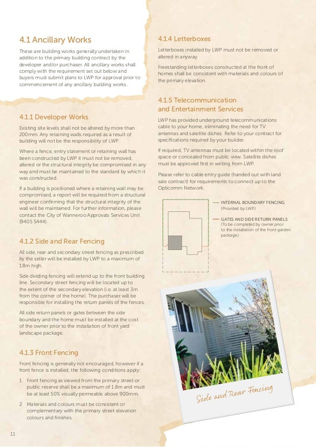 city of wanneroo building guidelines