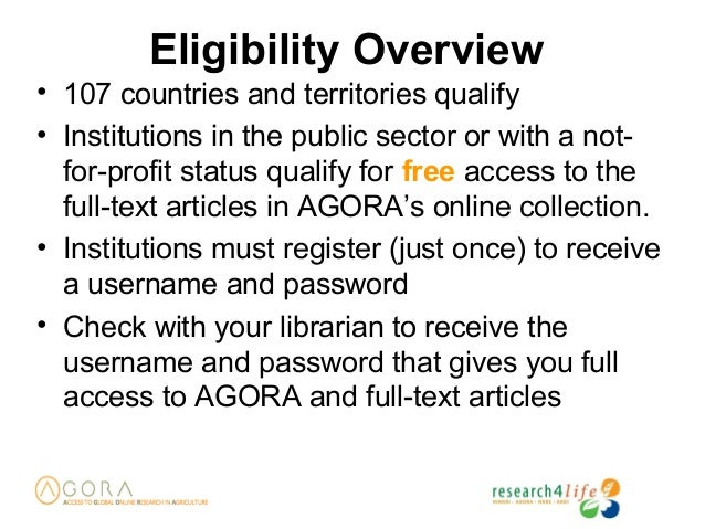 Who is eligible for R4L Programmes; 8.
