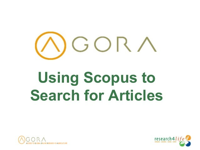 Using Scopus to Search for Articles