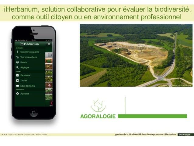 iHerbarium, solution collaborative pour évaluer la biodiversité,  comme outil citoyen ou en environnement professionnel