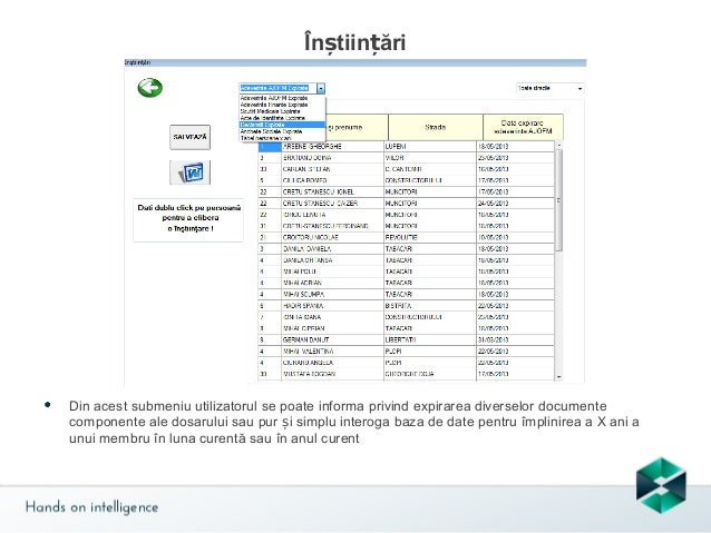 Rapoarte  Rapoartele sunt calculate automat, atât unul complex cum este cel de la Venit minim garantat sau simple document...