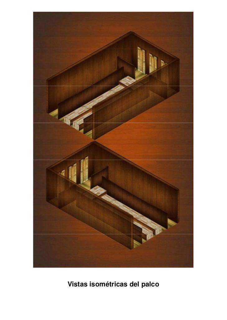 """Maqueta de stand de """"Swanson House""""             Escala 1:25         Perspectiva frontal"""