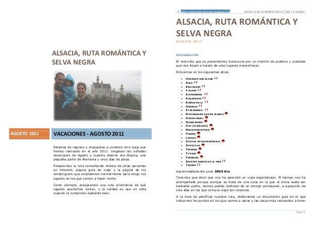 http://conmiautocaravana.blogspot.com   ALSACI A, RUTA ROMÁNTI CA Y SELVA NEGRA                                           ...
