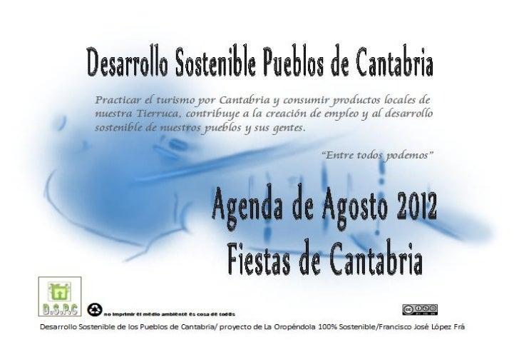Agosto 2012 cantabria agenda