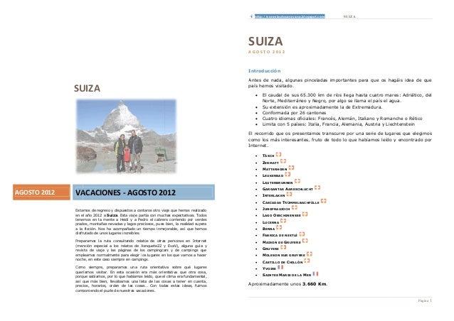 http://conmiautocaravana.blogspot.com   SUIZA                                                                             ...