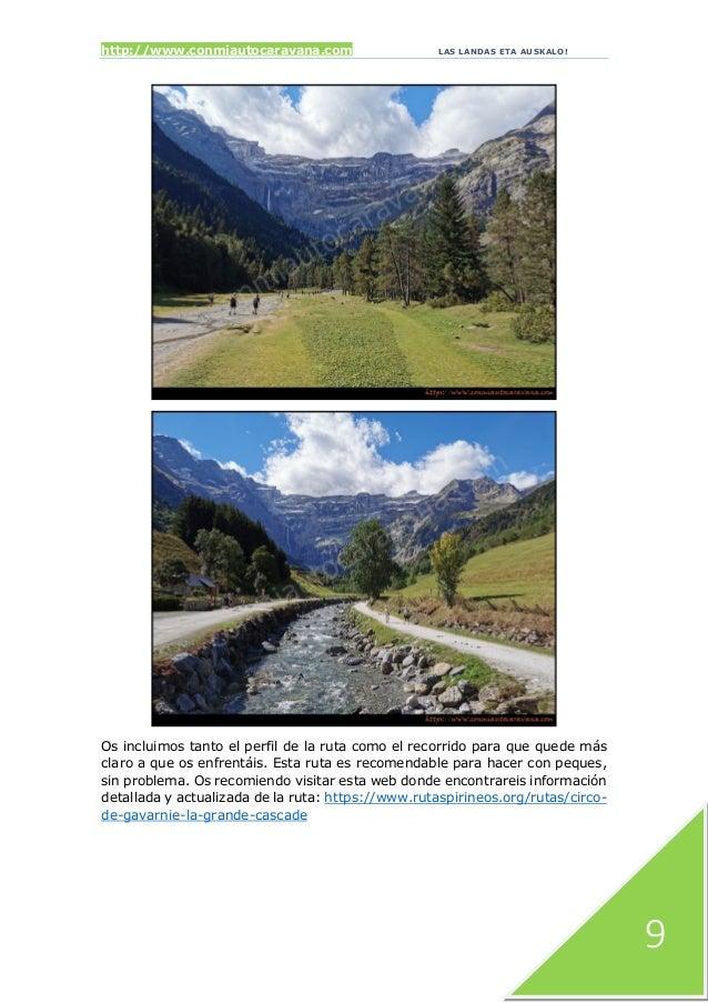 http://www.conmiautocaravana.com LAS LANDAS ETA AUSKALO! 9 Os incluimos tanto el perfil de la ruta como el recorrido para ...