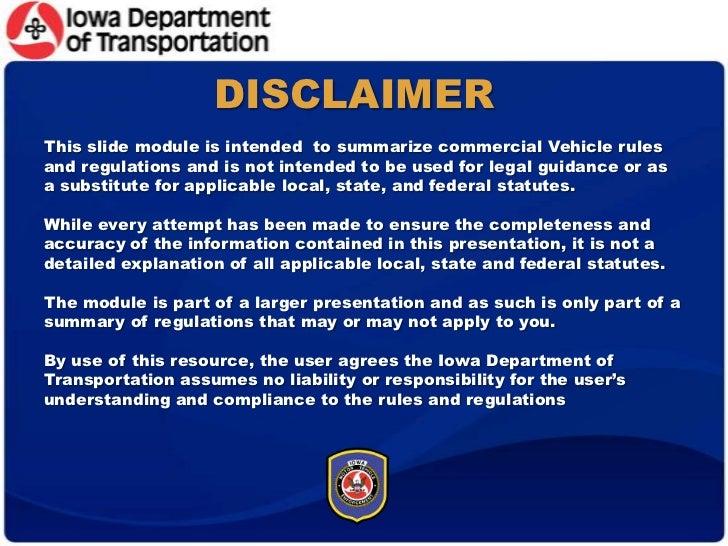 Ag outreach farm program 2011 driver licenses for Iowa motor vehicle laws