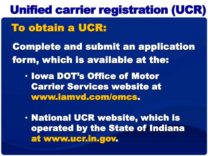 what do i need On dot motor carrier services