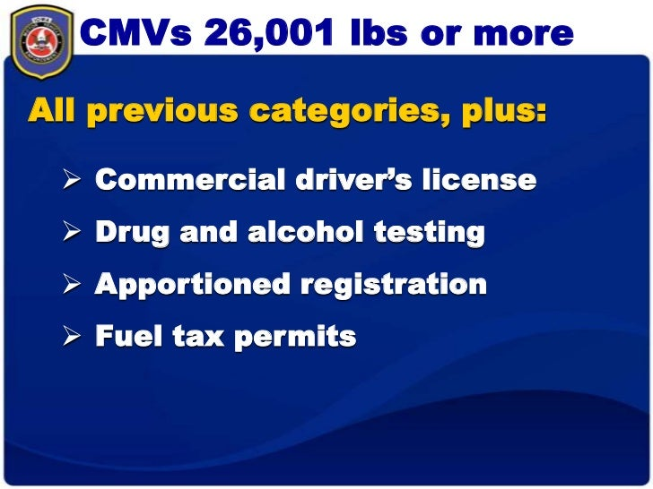 What do i need for Florida department of motor vehicles drug and alcohol test