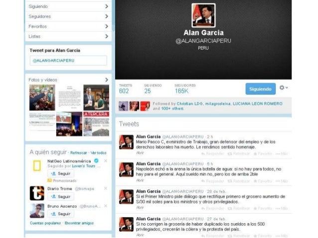 Twitts de Alan Garcia  01032014