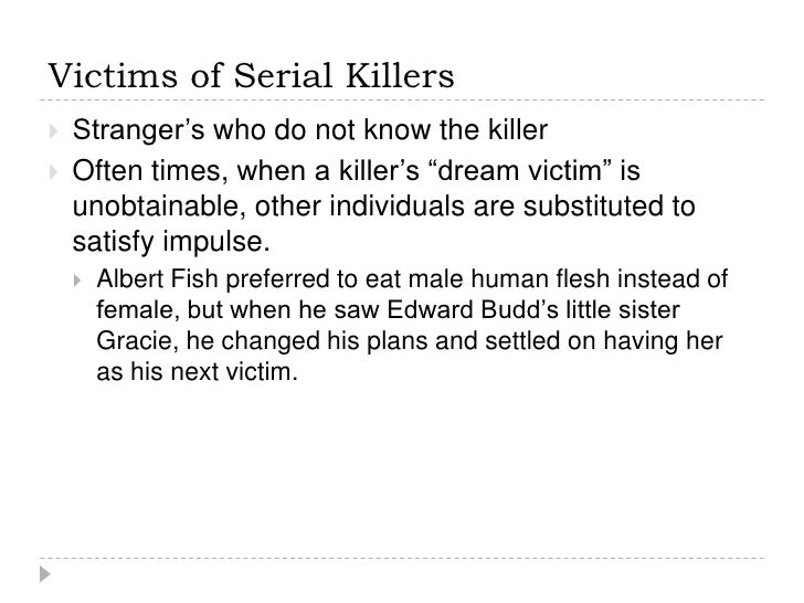 a profile on serial killers Annotation: following a discussion of the sociocultural context of violence, including the influence of the media, this paper presents a typology and profile of the serial murderer abstract: serial killers may be transient or geographically stable, but can be categorized into four major types according to motivation the visionary.