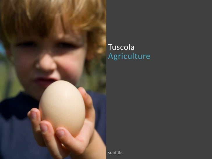 TuscolaAgriculture<br />subtitle<br />