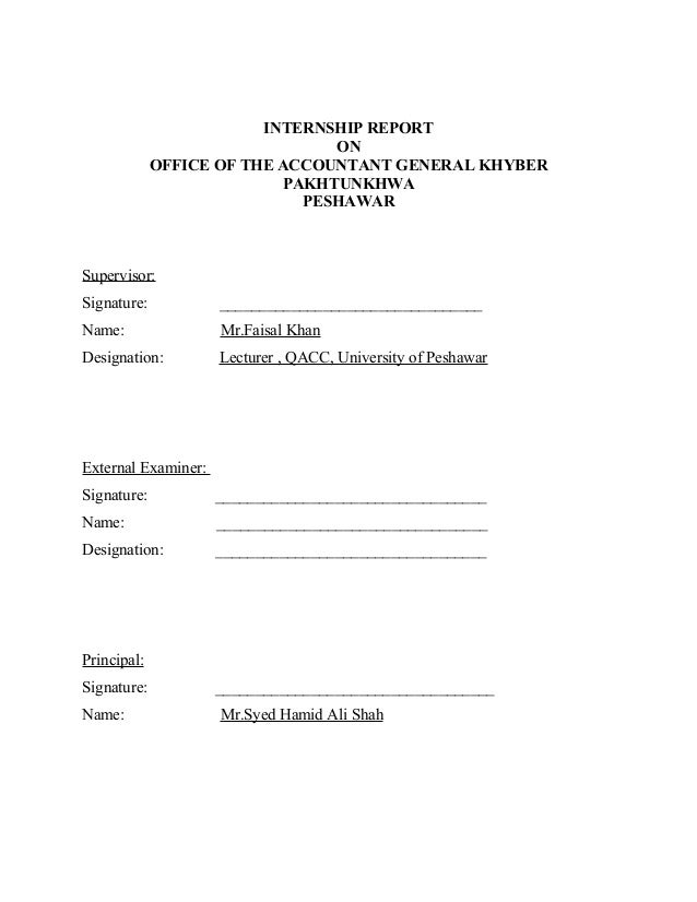 report title page
