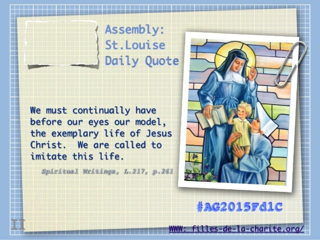 Daily Quotes of Saint Louise Marillac [English]