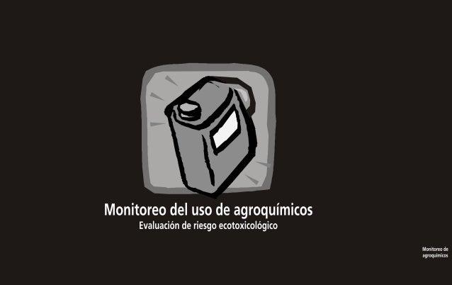 Monitoreo del uso de agroquímicos