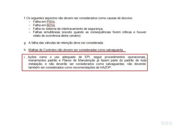 Posso estimar severidade / frequência / risco em um HAZOP? Ref: Pereira e Paiva (2014) HAZOP