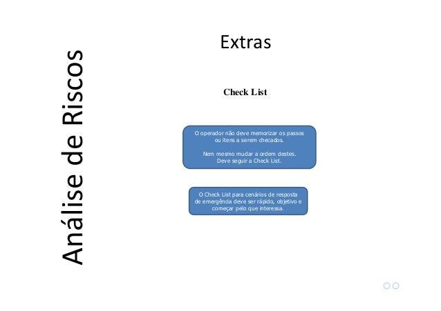 Analise e gerenciameto de iscos
