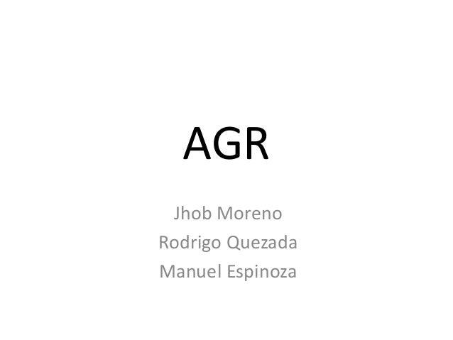 AGR Jhob Moreno Rodrigo Quezada Manuel Espinoza