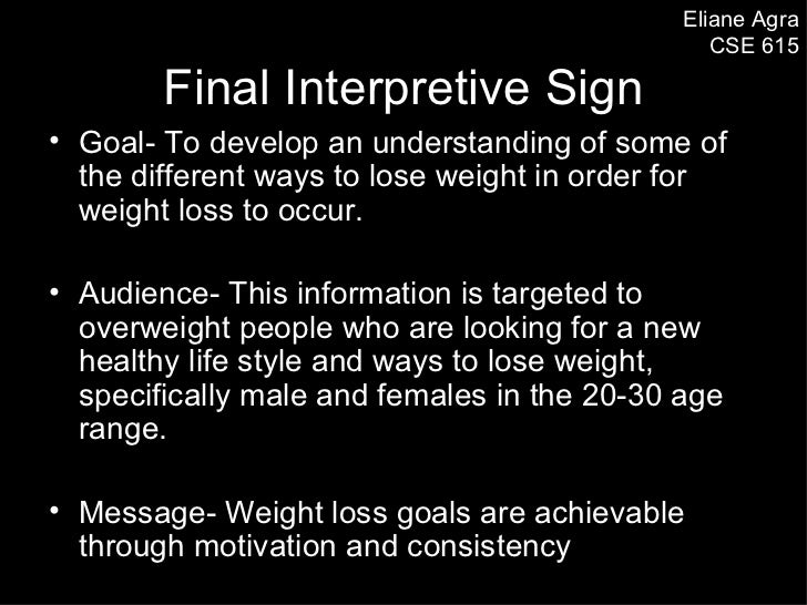 Eliane Agra                                                CSE 615        Final Interpretive Sign• Goal- To develop an und...