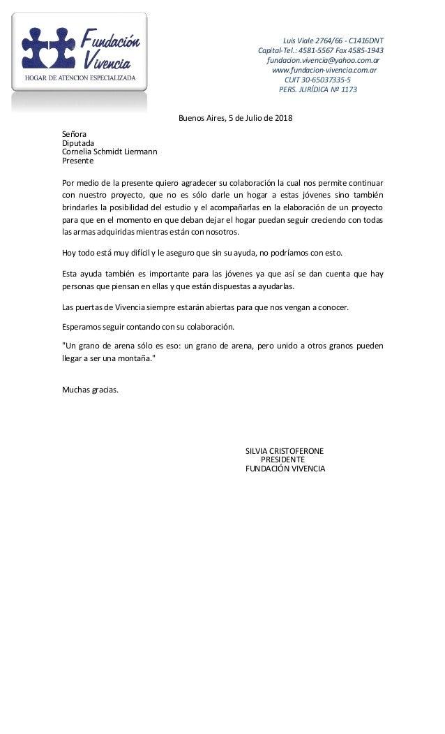 Luis Viale 2764/66 - C1416DNT Capital-Tel.: 4581-5567 Fax 4585-1943 fundacion.vivencia@yahoo.com.ar www.fundacion-vivencia...