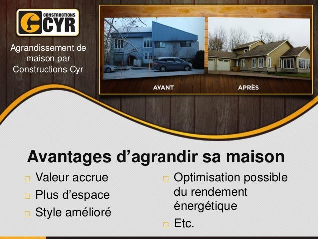 Guide pour agrandir une maison qu bec prix conseils for Agrandir maison prix