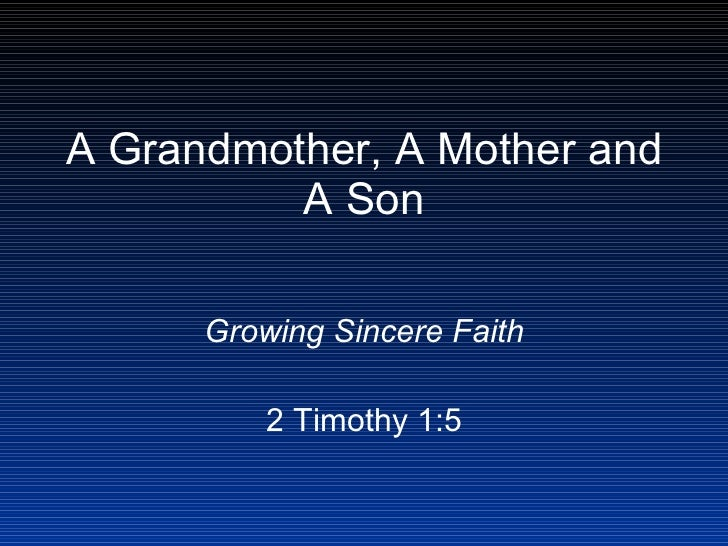 A grandmother, a mother and a son
