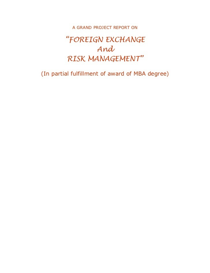 Foreign trading system project report