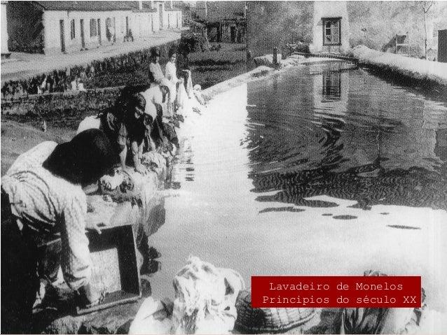 Lavadeiro do río Monelos principios do século XX