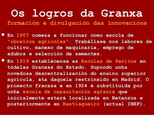 Memoria da Granxa, 1911. Describe a historia, organización e resultados do Centro