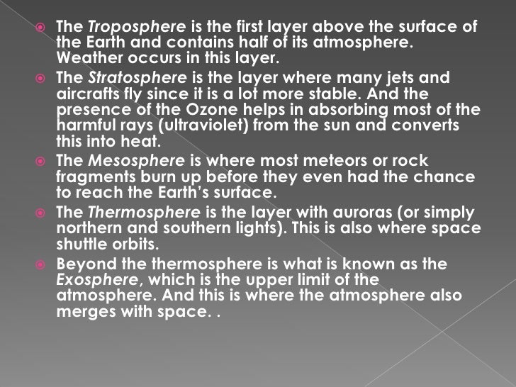 What is the thickest layer of the atmosphere?