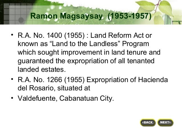 land reform proram terms Ipil, zamboanga sibugay, july 9 (pia) - land acquisition and distribution to landless sibugaynons will continue even with the expiration of the comprehensive agrarian reform program extension with.
