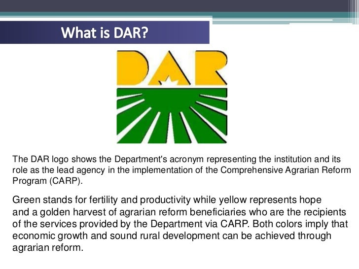 an overview of the comprehensive agrarian reform program carp Agrarian reform in the philippines• the philippine agrarian problem:• 1 two important dimensions:• land & the people agricultural & soc.