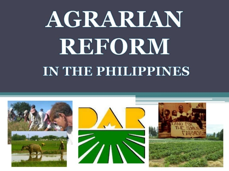 status of agrarian reform The objectives of agrarian reform design by dóri sirály for prezi to put an end to conflicts pertaining to land ownership agrarian reform program, if properly implemented can improve the quality of life of rural people agrarian reform program primarily provides basic infrastructure with an intention to increase agricultural productivity and.