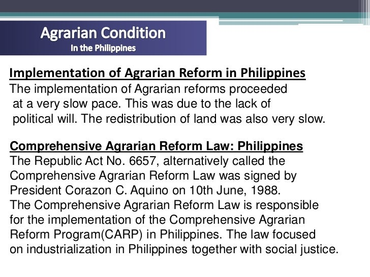 agrarian reform in the philippines Department of agrarian reform, philippines, quezon city, philippines 20,333 likes 398 talking about this 13,216 were here this is the official.