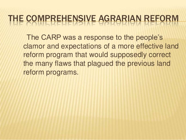 agrarian reform special fund act Description agrarian reform by: prof fernando r pedrosa, llb, phd ust crs, 1st sem, sy 2009-10 2009- brief historical background of agrarian reform .