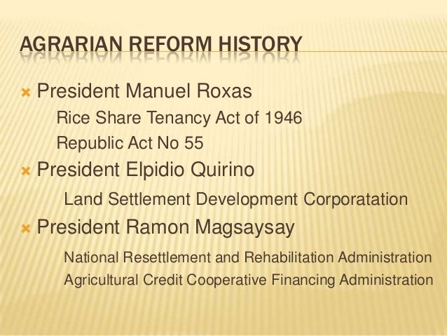 Land reform in the Philippines