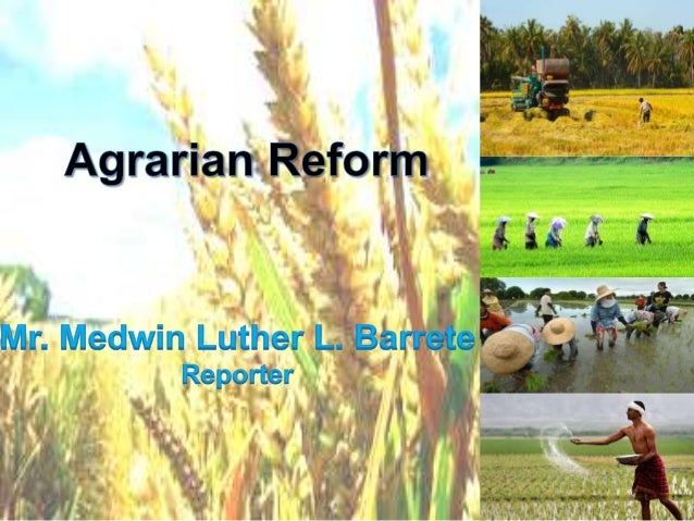 comprehensive agrarian reform essay Agrarian reform in the philippines seeks to solve the centuries-old problem of landlessness in rural areas through the comprehensive agrarian reform program (carp) initiated in 1987, the government addressed key national goals: the promotion of equity and social justice, food security and poverty.