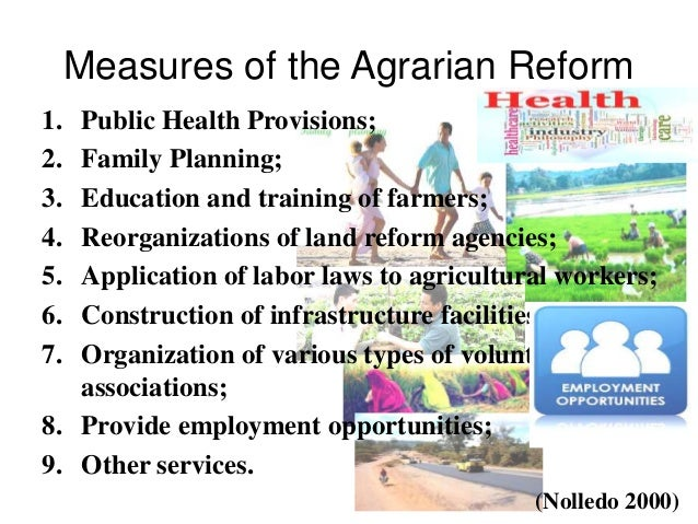 Reaction paper on comprehensive agrarian reform land parting