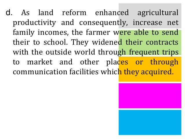 Effects of Agrarian Reform